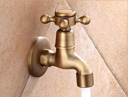 Brass Antique Finish Laundry Mop Pool & washing machine Bibcock tap water faucet coldwater botanical wall mount faucet white,