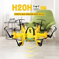 RC Quadcopter Mini Drone, JJRC RTF Helicopter 4 Channel 2.4GHz 6-Axis Gyro 3D Roll Toys For Adult Kids Aerial Photography Racing, by ECLEAR