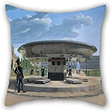 Throw Pillow Case 16 X 16 Inches / 40 By 40 Cm(two Sides) Nice Choice For Saloon Home Lounge Monther Festival Play Room Oil Painting Erdmann Hummel - Die Granitschale Im Berliner Lustgarten