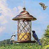 Pájaro Alimentador Tubo Clásico Colgando Comederos Para Pinzones Pájaro Semilla Y Más Y Ideal Para Atraer Aves Al Aire Libre. Cacoffay