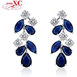 GDSHOP Fashion Jewelry brincos pendientes Women Dangle Drop Earrings 10KT White Gold Filled Zircon Earring For...