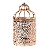 Candle Holder, Dabixx Hollow Holder Tealight Candlestick Hanging Lantern Vintage Bird Cage 3 Colors - Rose Gold