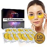 24K Gold Eye Mask - Eye Masks, Collagen Eye Mask, Under Eye Patches, Eye Gel Pads For Anti-Aging, Reduce Wrinkles and Fine Lines
