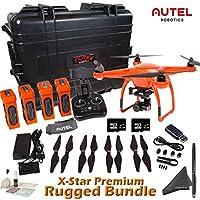 Autel Robotics X-Star Premium Rugged Bundle (Orange) - Includes 4 Batteries + Professional Waterproof Hard Case w/ Wheels & Retractable Handle and more...