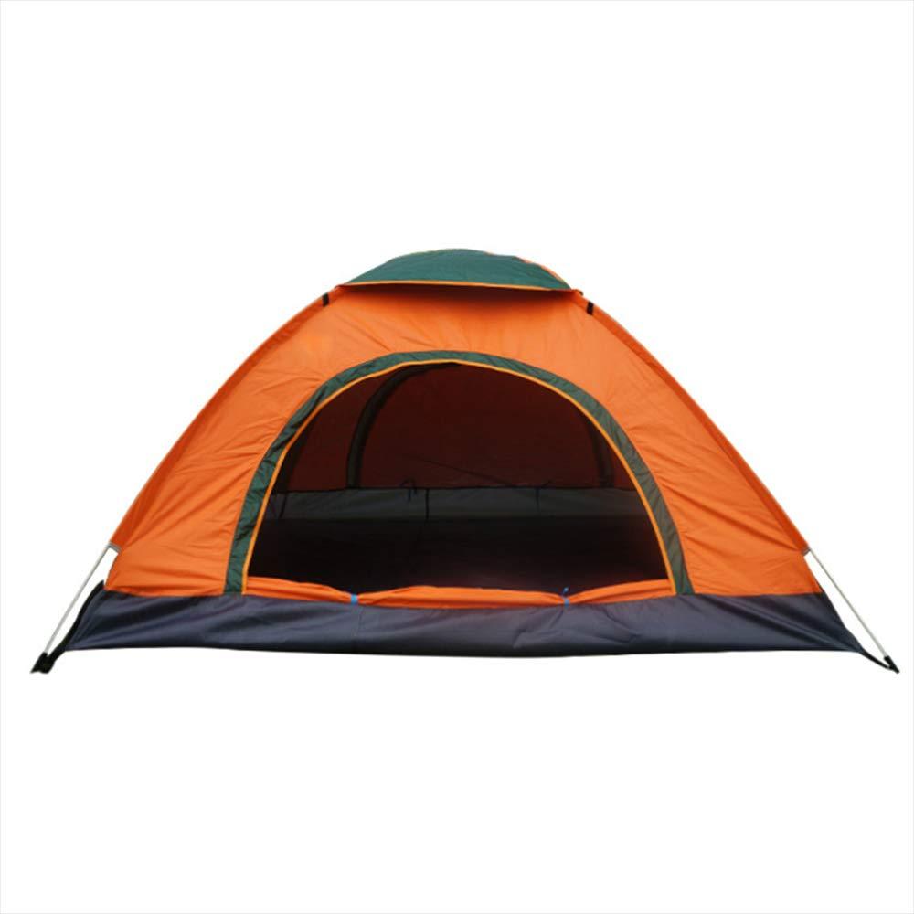 Keoa Außenzelt One-Touch Automatische Schnellöffnungs Zelt 3-4 Personen Zeltlager Wurfhand Faltzelt Große Kapazität Portable Wasserdicht UV (Farbe Orange)