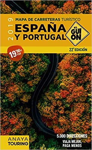 Mapa de carreteras turístico España y Portugal, 1:340.000 2019 El Guión: Amazon.es: AA. VV.: Libros