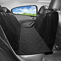 Pet Seat Cover,[ Updated Version ] Patec Waterproof Nonslip Dog Car Seat Covers,Universal Safety Dog Seat Protector,Travel Pets Car Backseat Bench Hammock Scratch Proof Car Hammock with Seat Anchors &Storage Bag for Family SUVs Trucks Van