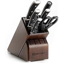 Wusthof Classic Ikon - 7 Pc. Knife Block Set w/Walnut Block