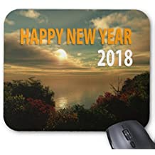 2018 Happy New Year sunset custom photo Mouse pad 9.84 x 11.8 inch
