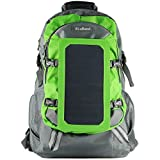 RioRand Solar Bag, Solar Charger Backpack With 7 Watts Solar Panel for Mobile Phones, Tablets, Android Phones,Smartphones, and Many Other 5V USB-Charged Devices-Green