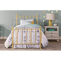 Hillsdale Furniture 1090BTWHTR Molly Bed Set with Rails and Trundle, Twin, Yellow