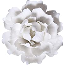 Lotus Peony Handmade Wall Decor Ceramic Flower Decoration 3D Wall Hanging Art