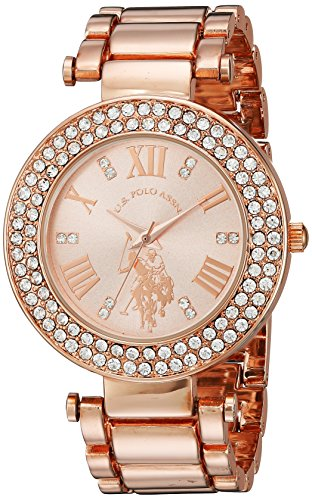 U.S. Polo Assn. Women's Analog-Quartz Watch with Alloy Strap, Rose Gold, 12 (Model: USC40115)