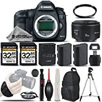 Canon EOS 5D Mark III DSLR Body 22.3MP Full HD 1080p + Canon 50mm 1.8 II Lens + Backup Battery + 2 Of 32GB Memory Card + UV Filter. All Original Accessories Included - International Version