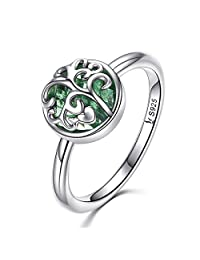 The Kiss Tree of Life 925 Sterling Silver Ring, Murano Glass