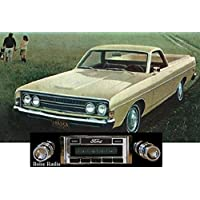 1968-1969 Ford Ranchero USA-630 II High Power 300 watt AM FM Car Stereo/Radio with iPod Docking Cable