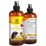 Pet Stain & Odor Remover Spray Best Organic Enzyme Cleaner For Pet Odor Elimination Dog & Cat Urine Stain Removal - Wide Area Stains - Citrus Scent & Tea Tree Oil - 4 FL Oz By Pet Diesel