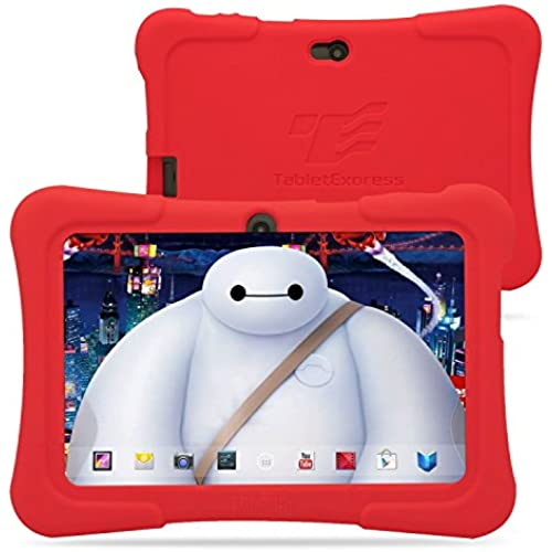 Dragon Touch Y88X 7-Inch (8GB, Quad Core, Android 4.4) Kids Tablet Bundle with Zoodles Pre-Installed and Red Silicone Coupons