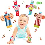 Bloobloomax Baby Einstein Toys Soft Foot Finder Socks Wrists Rattles Ankle Leg Hand Arm Bracelet Activity Rattle Baby Shower Present Essentials for Small Baby Newborn Infant Toddler Boy Girl Bebe