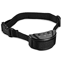 Petist Dog Anti Bark Collar with 7 Levels Adjustable Sensitivity Electric Control for 15-120 Pounds Dogs, No Harm Warning Beep and Shock, Black