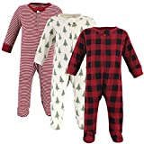 Touched by Nature Baby Organic Cotton Sleep and Play, Tree Plaid, 3-6 Months