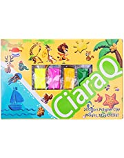 Modeling Clay Kit - 24 Colors Air Dry Ultra Light Modeling Magic Clay, Soft & Stretchable DIY Molding Clay with Clay Tools, Animal Accessories and Easy Storage Box Best Gifts for Kids/Adults