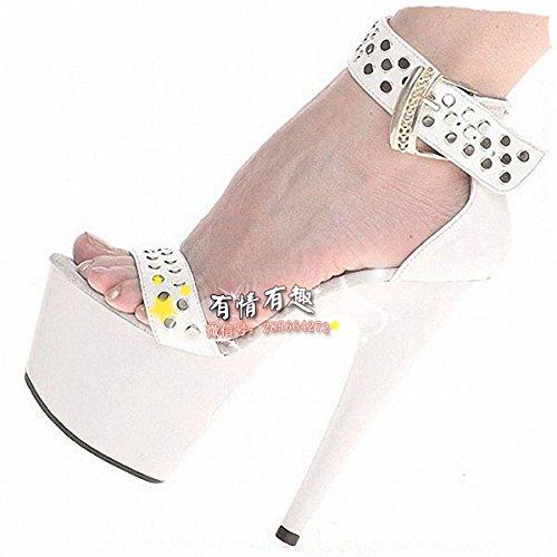 Mode - sandalen schuhe rivet rivet rivet 15 cm high heels eafb5a