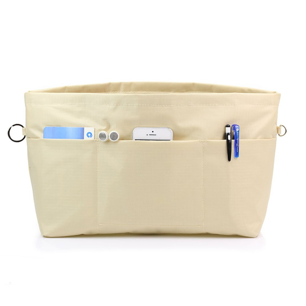 Beige VANCORE Tote Bag Organizer Insert With Zipper Large Capacity 11 Pockets