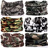 KALILY 12PCS/9PCS/6PCS Headband Bandana - Face Shield Headwrap Scarf Neck Gaiter Hair Band