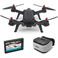 PinPle Drone Brushless 2.4GHz 6 Axis Gyro RC Quadcopter Drone witth 720P HD Camera (Free 1 VR Glasses and 1 Display Screen)