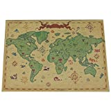 Retro Wall Map/Office Decoration Map/World Map/Coffee Mural/Poster-05