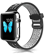 PINHEN for Apple Watch Series 4 Band - 40mm/44mm Sport Silicone Bracelet Wristband Replacement Watchband for Apple Watch Series 4/3/2/1 (44mm, Gray)