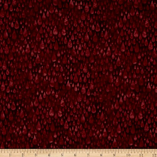 Burgundy Cotton Fabric (H20 Raindrops Burgundy Fabric By The Yard)