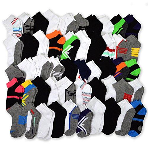 TeeHee Socks 50 Pairs Various Sample Socks Valuable Packs (Kids 9-10 Years) - 8 Pair Value Pack
