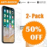 iPhone X Glass Screen Protector Tempered Glass, NeWisdom [Case Friendly] [3D Touch] [9H] Anti Shock Apple iPhone 10 / iPhone Ten Tempered Glass Screen Protector