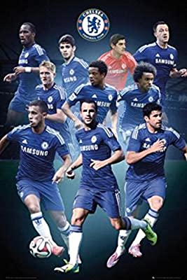 Chelsea FC Collage Players Soccer Sports Poster 24x36