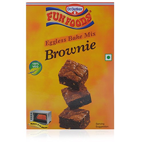 Eggless Bake Mix Brownie - Makes 10 Peices - By Dr Oetker Funfoods