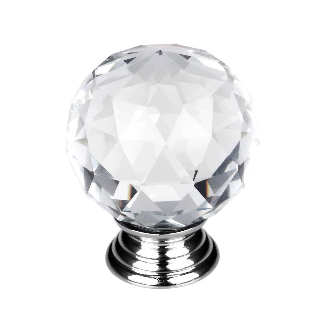 sourcingmap® Kristallglas Türgriffe Schrank Garderobe Griff Knöpfe ...
