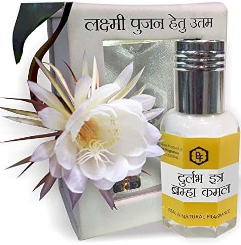 SHINE MILL Attar itra Perfume Long Lasting Fragrance Bramaha Kamal Attar 12ml (Most Precious & Rare Attar) Best Attar for Worship, 0% Alcohol, Real & Natural, 100% Pure & Undiluted