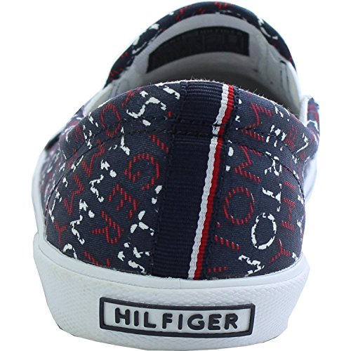 Tommy Hilfiger S3285later 2D-2 Midnight Tommy Print Textile Youth Trainers Midnight Tommy Print