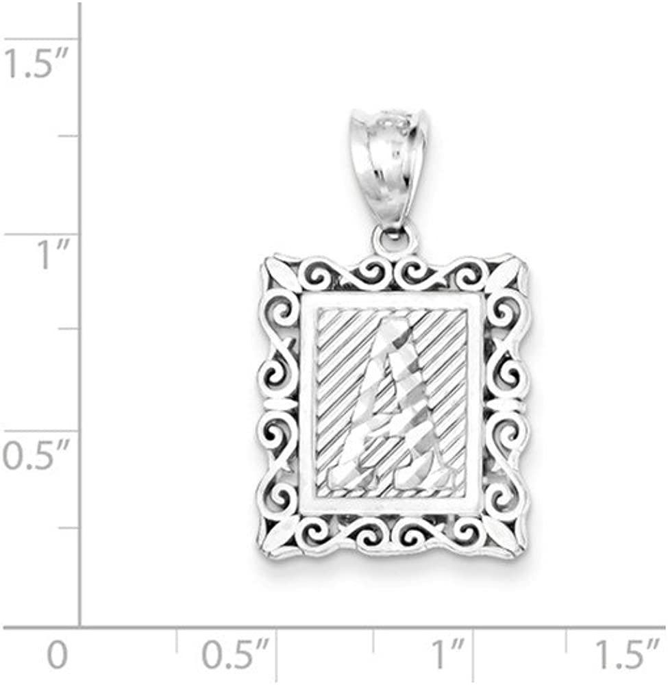 925 Sterling Silver Initial A Charm and Pendant