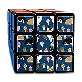 Corgi Ice Creams Cute Ice Cream Food Corgis Junk Food Summer Cute Ice Cream Magic Speed Cubes Sets 3x3x3 Puzzles Toys Solid & Durable (56mm)
