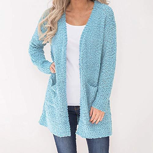 Sweat Shirt Zipper De Capuche Coton Chaud Flanelle Manteau Hiver Outwear Pull pour Poche Manteau Bleu Mme Top en avec Sweat Laine Peluche Femme Haut Femmes Poches wgA16Z