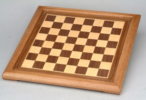 Maple Wood Veneer Chess Board (Worldwise Imports 12in Walnut and Maple Wooden Chessboard with 1.38in Squares)