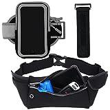 i2 Gear Armband Case and Belt for Universal/Smartphones - Black Matte