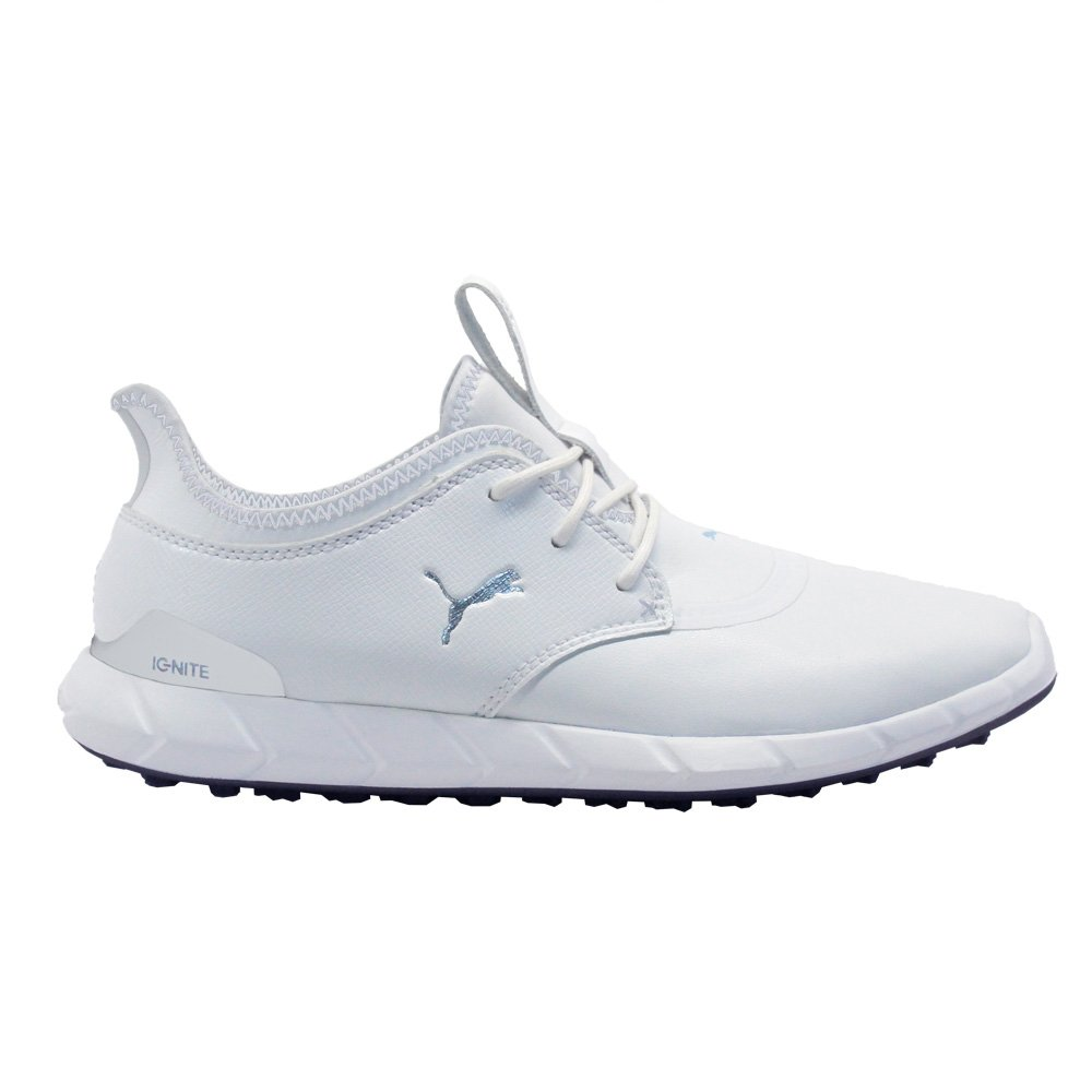 PUMA Golf Men's Ignite Spikeless Pro Golf Shoe, White White/Silver, 12 M US by PUMA