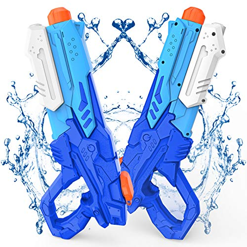Kiztoys Water Gun Toy for Kids, Powerful Water Pistol with 600ML Moisture Capacity 33ft Long Range Squirt Gun, Water Pistol Toy for Summer Water Fighting Outdoor Pool Beach Yard Kids Adults(2 Pcs)