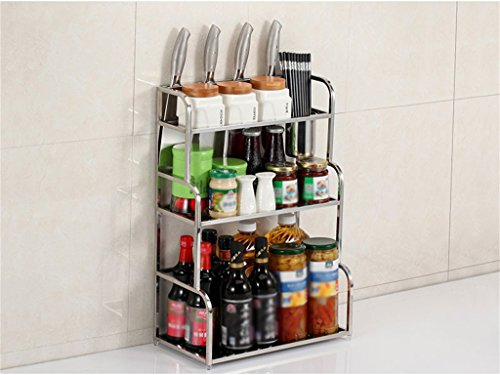 Estante de Cocina Espátula 3 Layer Wall Hanging Landing Incorporated Suministros para condimentos (Color : A, Tamaño :...