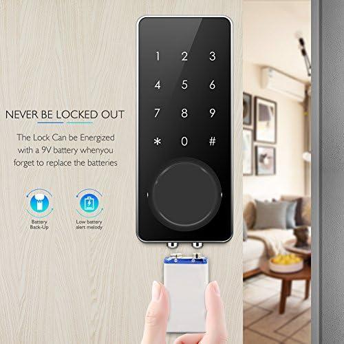 AKASO Smart Lock Touch Screen Keypad Deadbolt APP Code Entrance Smart Electronic Digital Door Lock with Key Remote Keypad for Home Hotels Apartment 518 0tUsixL