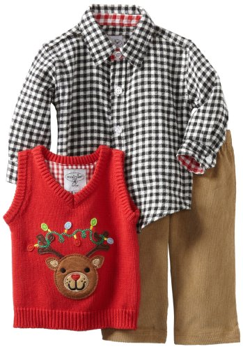 Infant Reindeer Three Piece Set for Boys at Christmas - Christmas Clothes For Baby Boys